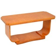 Art Deco Burr Maple Coffee Table by Epstein
