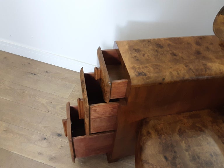 Art Deco Burr Walnut Bedroom Suite by Grange Furnishing Stores, London For Sale 10