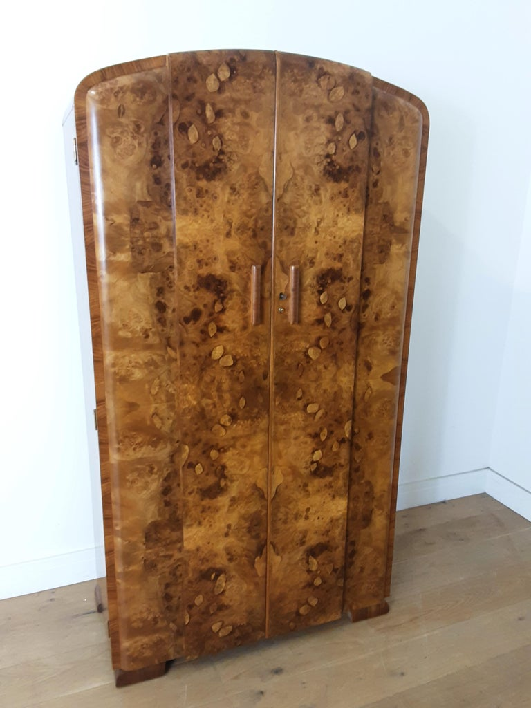 Art Deco Burr Walnut Bedroom Suite by Grange Furnishing Stores, London For Sale 2