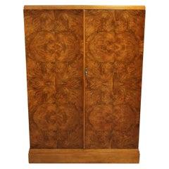 Art Deco Burr Walnut Compactom Wardrobe