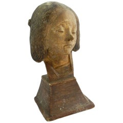 Art Deco Bust of St Fortunade French Plaster, circa 1930