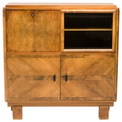 Art Deco Cabinet in Burl Walnut
