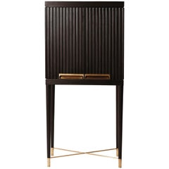 Art Deco Cabinet in Mahogany and Oak with Bronze