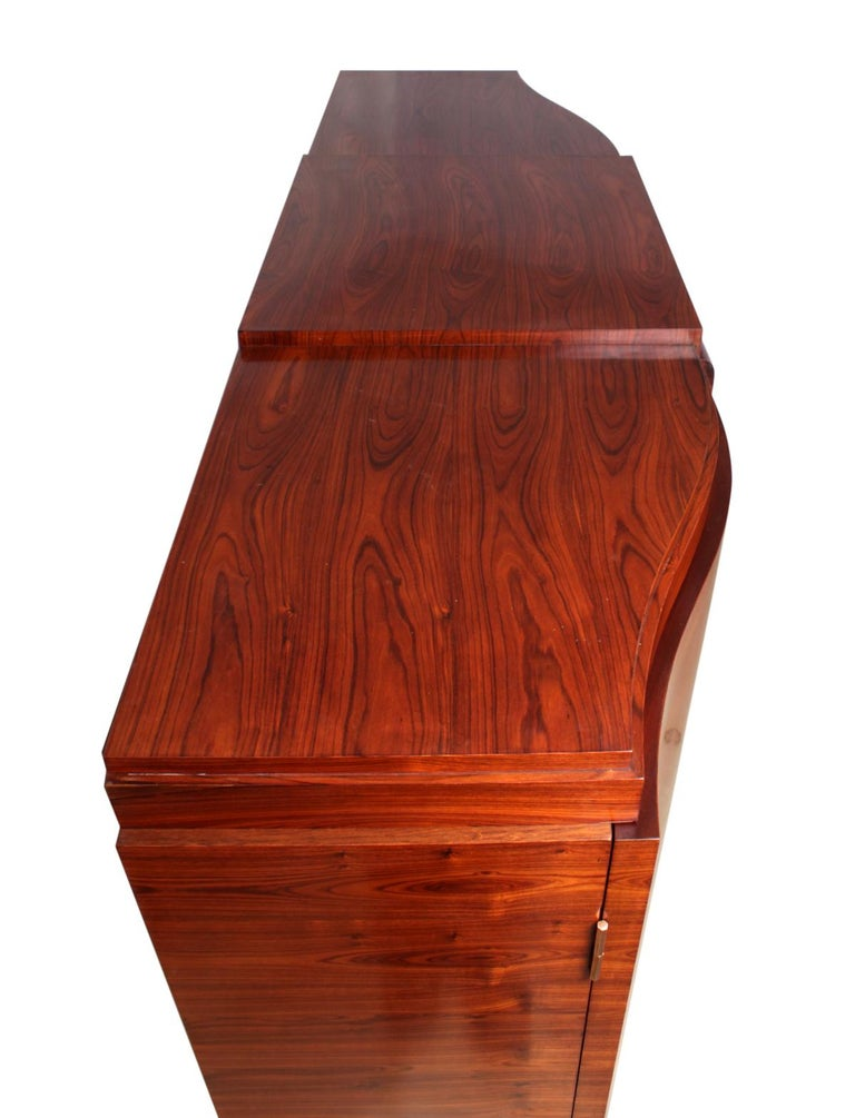 Mid-20th Century Art Deco Cabinet in Rosewood by Jules Leleu For Sale