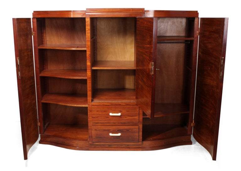 Art Deco Cabinet in Rosewood by Jules Leleu For Sale 2
