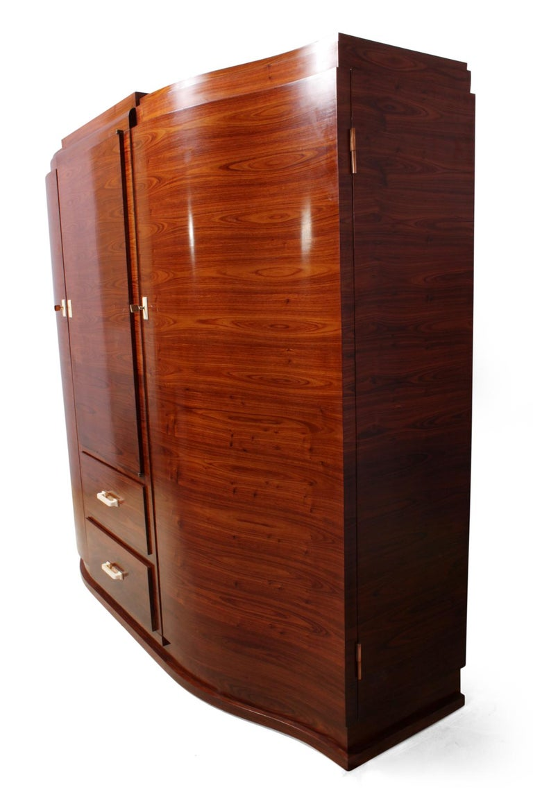 Art Deco Cabinet in Rosewood by Jules Leleu For Sale 4