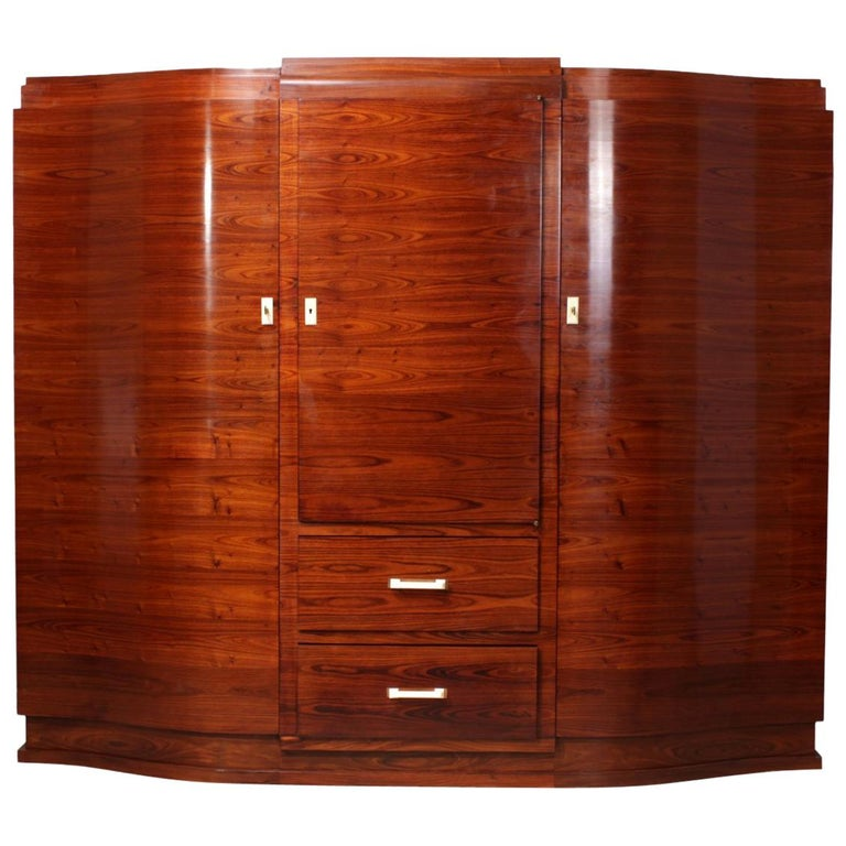 Art Deco Cabinet in Rosewood by Jules Leleu For Sale