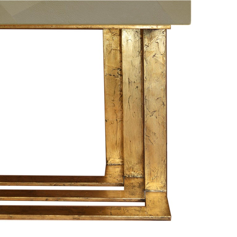 Art Deco Cabinet Maple Wood Ecological Shagreen Decoration Casted Brass Handle In New Condition For Sale In Rimini, IT