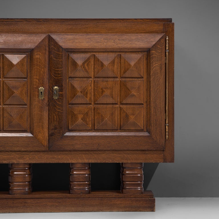 Mid-20th Century Art Deco Cabinets in Stained Oak For Sale