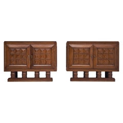 Art Deco Cabinets in Stained Oak