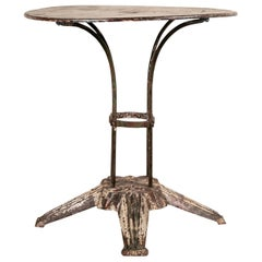 Art Deco Café Table with Faux Marble Painted Top