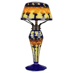 Art Deco Cameo Glass Decor Mirette Lamp by Le Verre Français