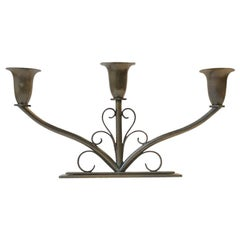 Art Deco Candleholder in Bronze by Holger Fredericia, 1930s