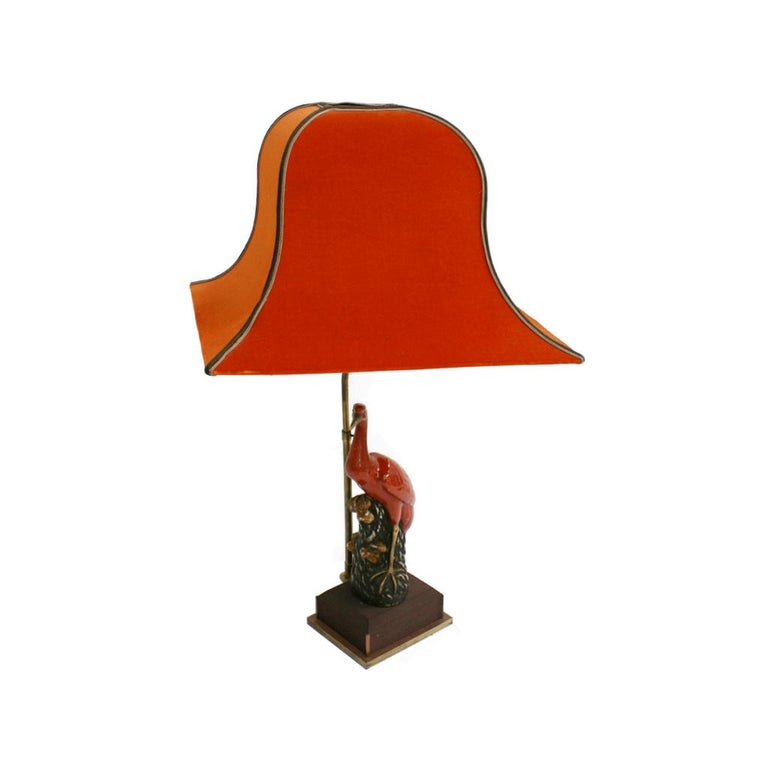 Art Deco Capodimonti Porcelain Pair of Italian Table Lamps In Good Condition For Sale In Madrid, ES