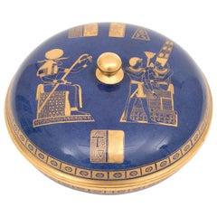 Art Deco Carltonware Covered Bowl with the Tutankhamun Design