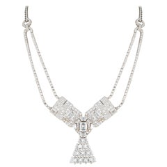 Art Deco Cartier Diamond Brooch, Convertible into a Necklace