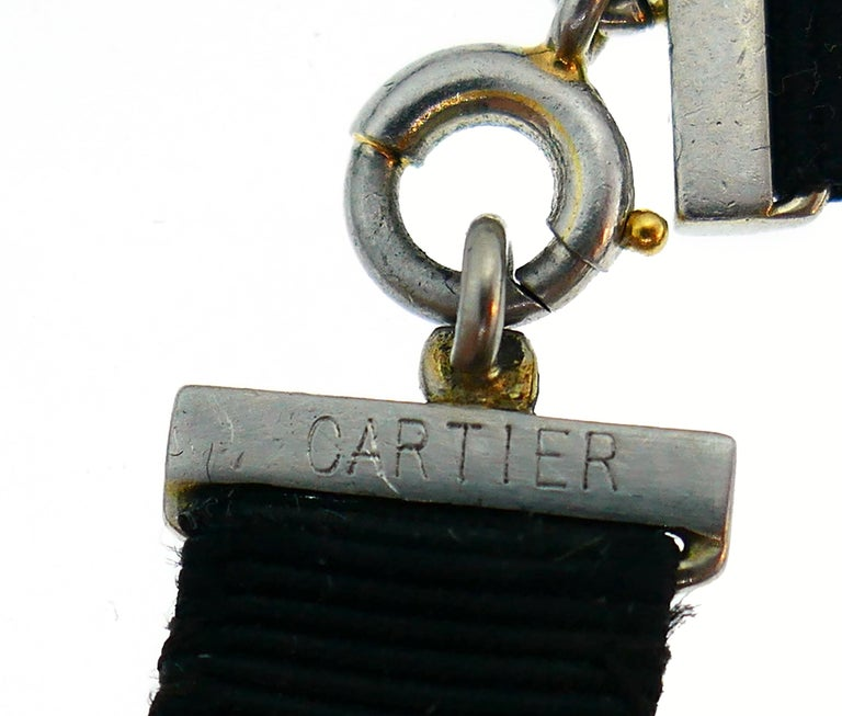 Art Deco Cartier Rock Crystal Pendant Necklace Magnifier in Platinum and Diamond For Sale 1