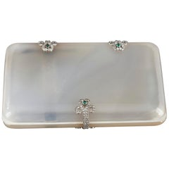 Art Deco Case with Agate, Gold, Diamonds and Emeralds