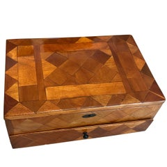 Art Deco Casket Box, Walnut Veneer, France, circa 1930