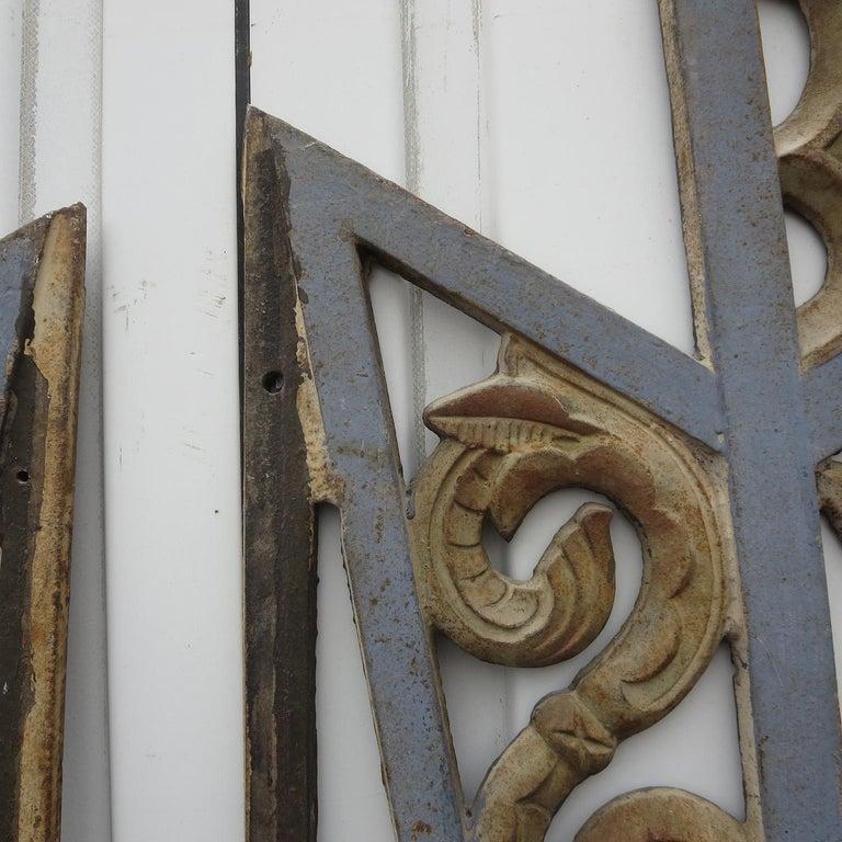 Art Deco Cast Iron Grates, Set of Two For Sale 1