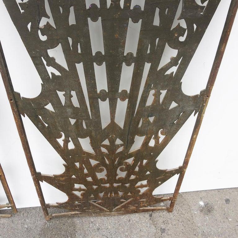 Art Deco Cast Iron Grates, Set of Two For Sale 3