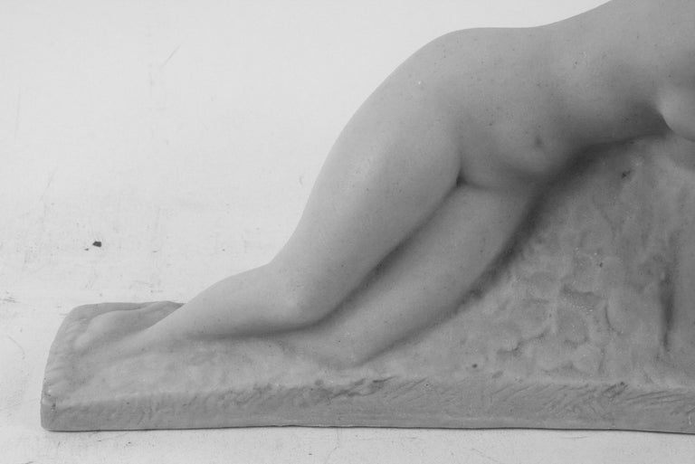8-102 cast marble stone sculpture designer by Vincent Glinsky in 1930s Original sculpture done in 1930  Newly cast in Italy 1960s Russian born/American artist 1895-1975.