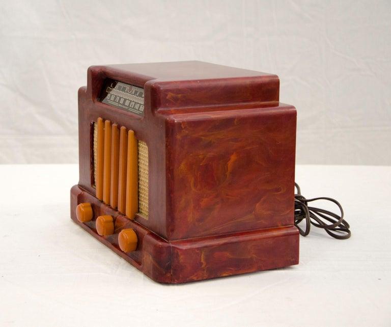 Art Deco Catalin Radio, Addison Model 5D For Sale 2