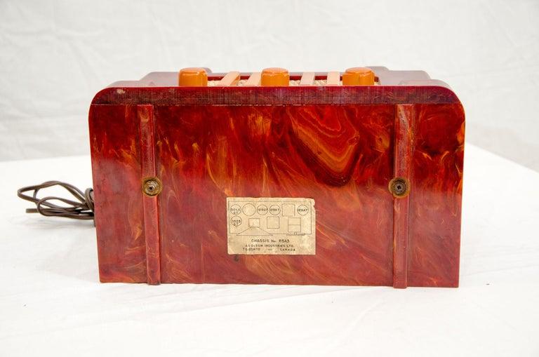 Art Deco Catalin Radio, Addison Model 5D For Sale 4