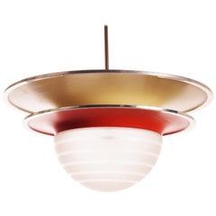 Art Deco Ceiling Lamp from Böhlmarks, Stockholm, Sweden