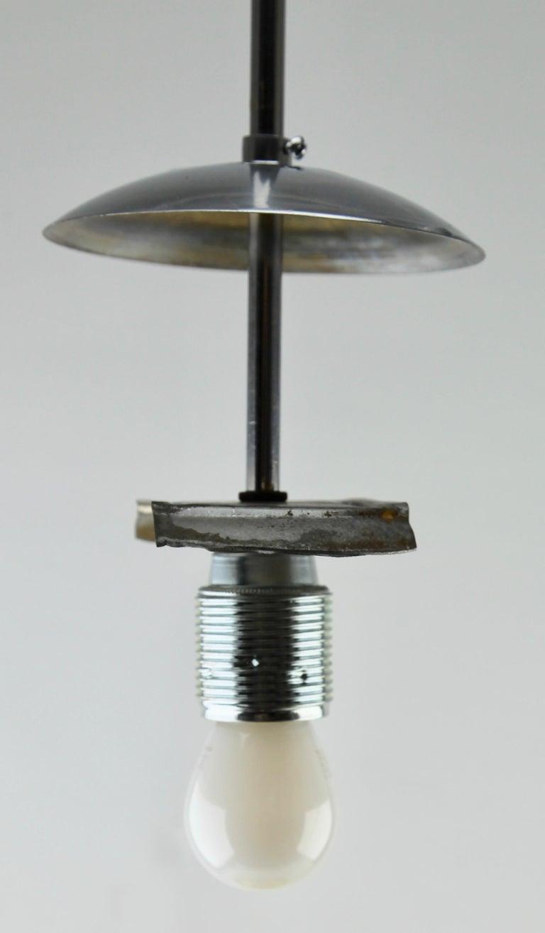 Art Deco Ceiling Lamp, Scailmont Belgium Glass Shade, 1930s 9
