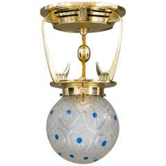 Art Deco Ceiling Lamp, Vienna, circa 1920s