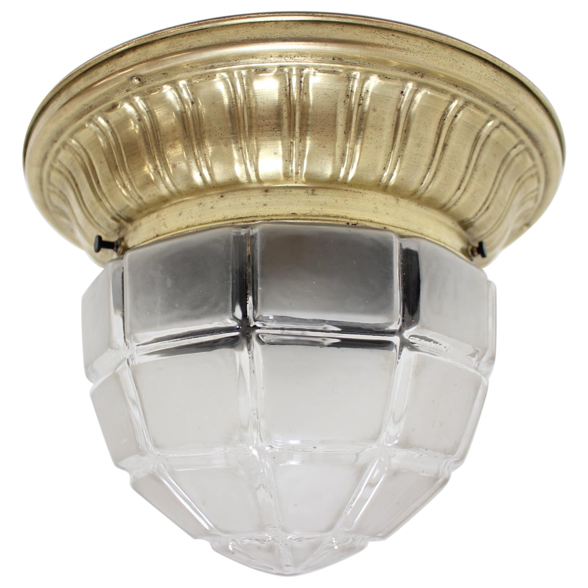 Art Deco Ceiling Light, 1930s