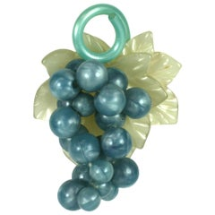 Art Deco Celluloid Grape Brooch