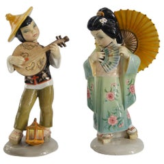 Art Deco Ceramic Couple Giapponese