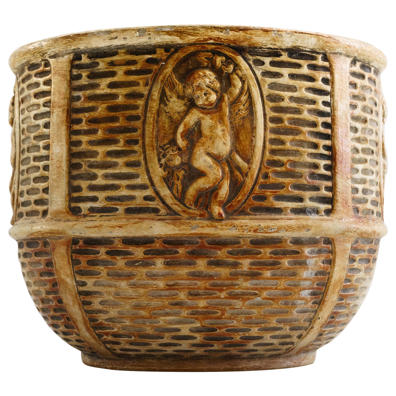 Art Deco Ceramic Flower Pot, Vienna, circa 1930s