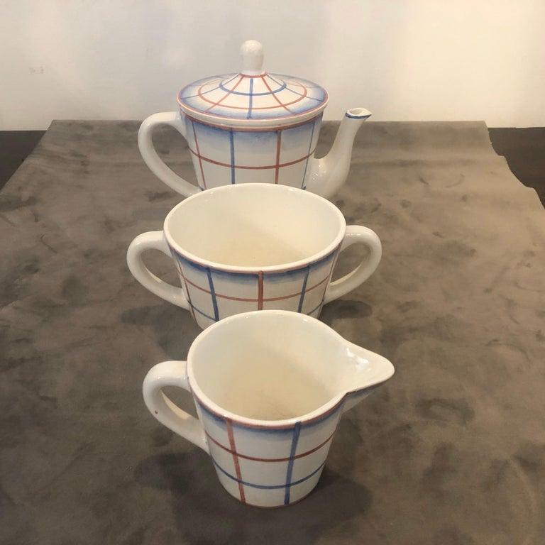 Art Deco Ceramic Tea Set Designed by Gio Ponti for Richard Ginori, circa 1930 For Sale 4
