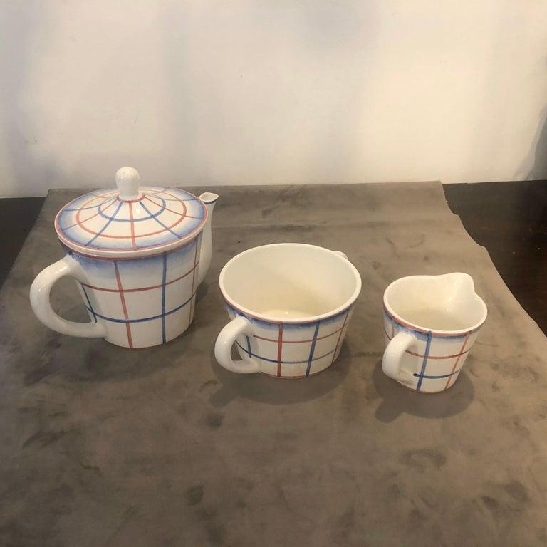 Art Deco Ceramic Tea Set Designed by Gio Ponti for Richard Ginori, circa 1930 For Sale 5