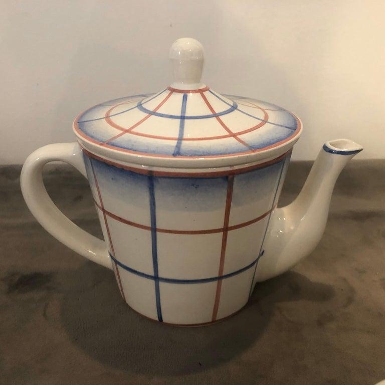 Italian Art Deco Ceramic Tea Set Designed by Gio Ponti for Richard Ginori, circa 1930 For Sale