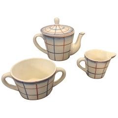 Art Deco Ceramic Tea Set Designed by Gio Ponti for Richard Ginori, circa 1930