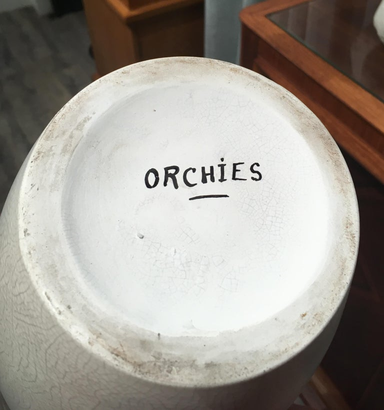 Art Deco Ceramic Vase by Orchies In Excellent Condition For Sale In Paris, FR