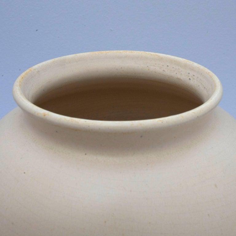 Hand-Crafted Art Deco Ceramic Vase For Sale