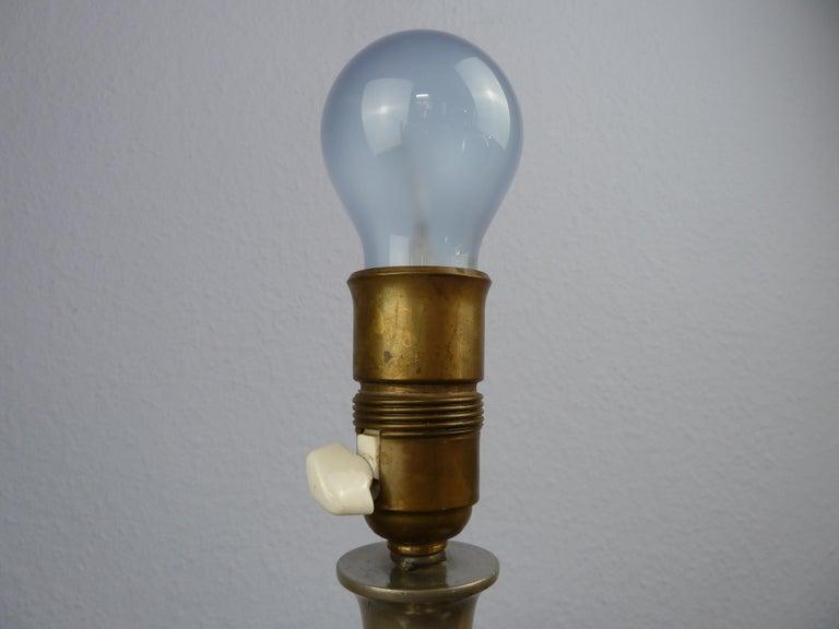Art Deco C. G. Hallberg Svenskt Tenn Pewter Table Lamp, Sweden For Sale 5