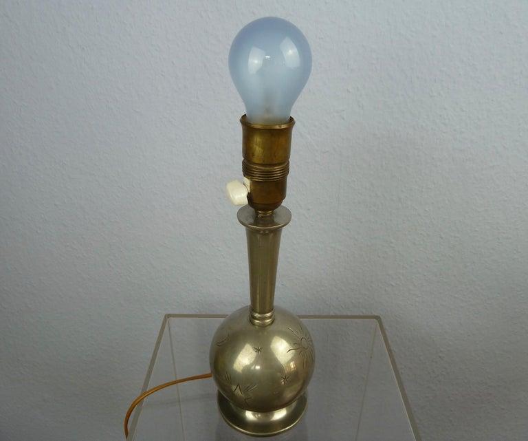 Art Deco C. G. Hallberg Svenskt Tenn Pewter Table Lamp, Sweden For Sale 7