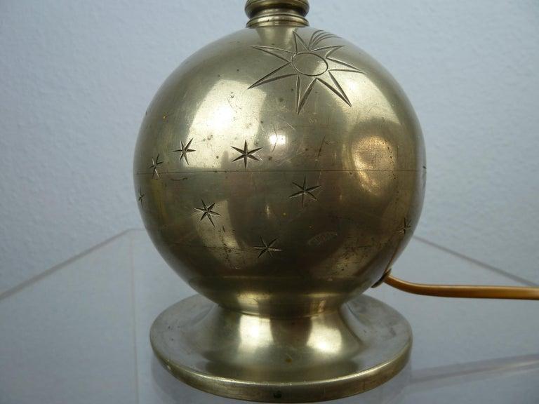 Art Deco C. G. Hallberg Svenskt Tenn Pewter Table Lamp, Sweden For Sale 8