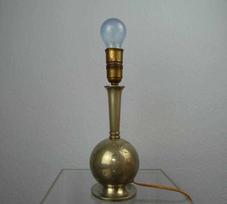Art Deco C. G. Hallberg Svenskt Tenn Pewter Table Lamp, Sweden For Sale 9