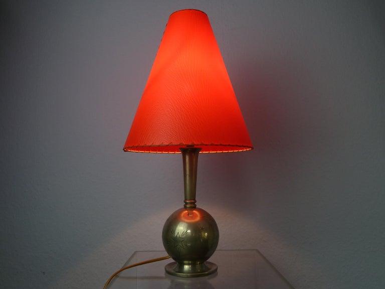 Art Deco C. G. Hallberg Svenskt Tenn Pewter Table Lamp, Sweden For Sale 11