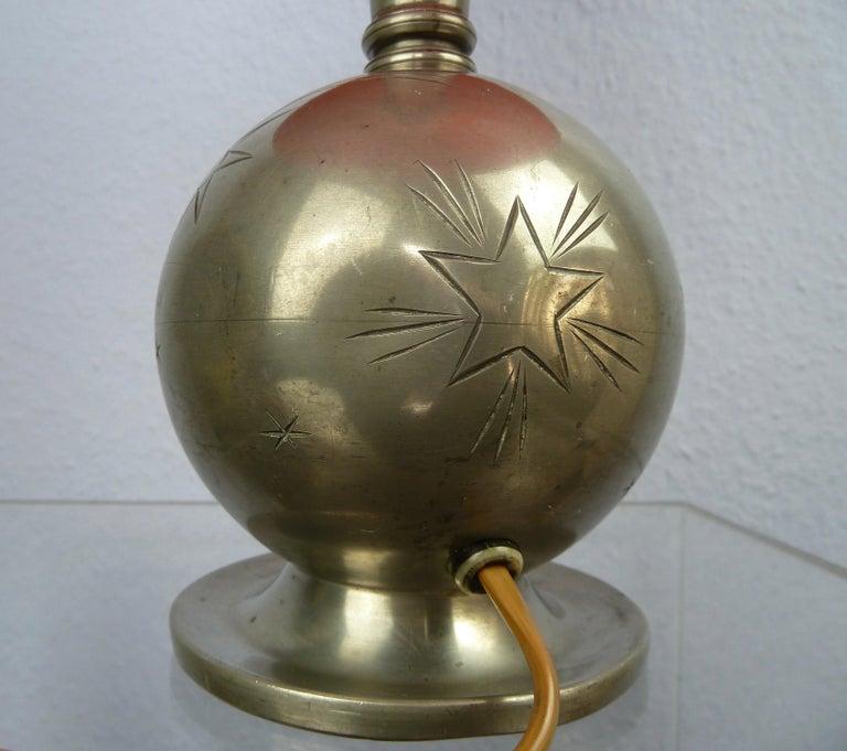 Art Deco C. G. Hallberg Svenskt Tenn Pewter Table Lamp, Sweden For Sale 1