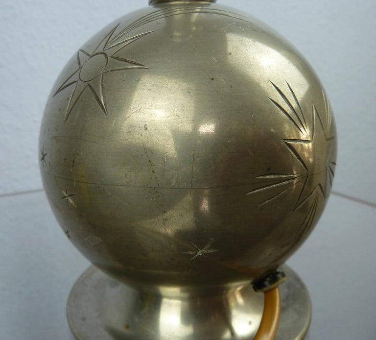 Art Deco C. G. Hallberg Svenskt Tenn Pewter Table Lamp, Sweden For Sale 3