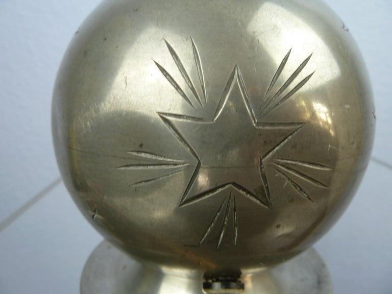 Art Deco C. G. Hallberg Svenskt Tenn Pewter Table Lamp, Sweden For Sale 4
