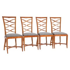 Art Deco Chairs, Cherry, France, 1940s